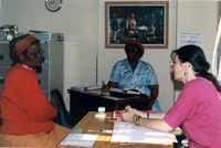 Advising client (left), Port Elizabeth Advice Office, Dec 94