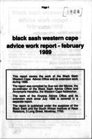 Cape Western Region 1988 Advice Office Report