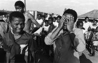 Saying goodbye, Leandra township, Transvaal, April 1986