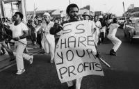 Labour strike, Durban, 1985