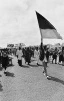 ANC flag at funeral, Cape Town, 1986