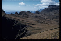 Behind the Elephant. Cathedral Peak. Donald Killick on right