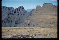 The Mitre from above Ntonjelaan Pass near Cathedral Peak