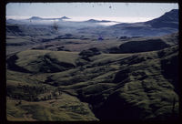 From Mike's Pass. Cathedral Peak mid March 1961