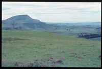 From vicinity 102/81 Looking north north east onto south slopes of Arthur's seat [Above Farm Bertam][196]