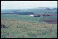 Looking south south east over Key Area from 102/81. Loskop mountain [Above Farm Bertam][196]. Assumed to be near Arthur's Seat