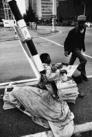 Children selling newspapers, Cape Town, South Africa, 1981