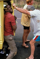 Police arresting innocent man, South Africa, 1992