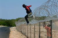 Refugees fleeing Zimbabwe, 2007