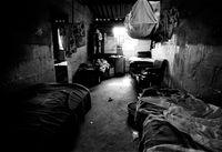 Hostel interior, South Africa, 1990