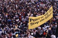 Protest march, Cape Town, 1989