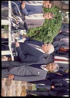 Mandela and De Klerk at meeting, Cape Town, 1990
