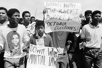 Election protest, Cape Town