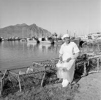 Fish worker, Minnie Anthony, 1996