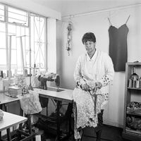 Dress maker, Charlotte Blignaut, 1996