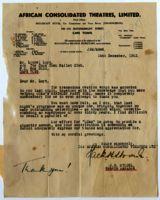 Letter of thanks, 1942