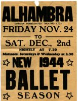 Alhambra performance poster, 1944