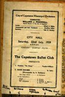 Concert programme, 1939