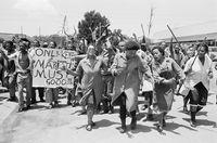 NUMSA strike, Johannesburg, 1996