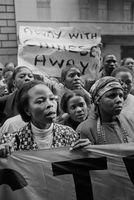 SACTWU protest, Johannesburg, 1999