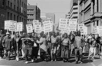 Public march, Pretoria, 1999