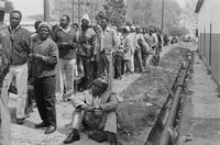 Retrenched miners, East Rand, 1999