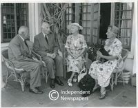 The Earl and Countess of Athlone with Mr & Mrs. Lancelot Ussher at their Newlands home, Cape Town