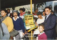 Allan Boesak encourages people to get their IDs [Identity Documents], Cape Town