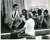 Allan Boesak at a UDF [United Democratic Front] meeting, Cape Town