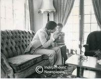 Allan Boesak with a child, Cape Town