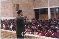 Allan Boesak talks to school children, Cape Town