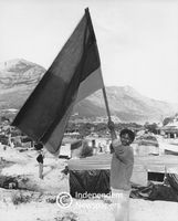 ANC flag in Hout Bay, Cape Town