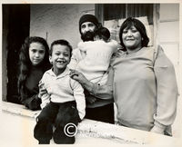 Apartheid era: mixed marriages. Husband and wife with their three children, Cape Town