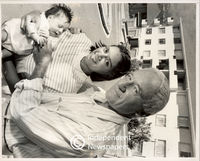Apartheid era: mixed marriages. Husband and wife with their baby, Cape Town