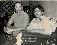 Apartheid era: mixed marriages. A man and woman living together, who cannot legally get married, Cape Town