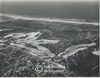 Aerial view of a golf course under construction, Cape Town