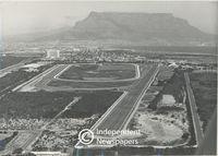 Aerial view of Milnerton Racecourse, Cape Town
