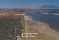 Aerial view of Milnerton's Rietvlei wetland, Cape Town