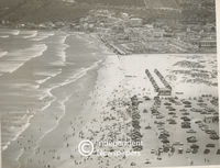 Aerial view of Muizenberg and its beach, Cape Town