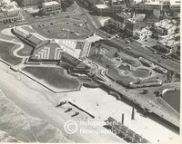 Aerial view of Muizenberg and the Pavilion, Cape Town