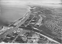Aerial view of Paarden Eiland, Cape Town