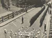 Air Force guard of honour salute Governor-General and his wife, Cape Town