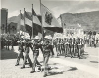 Armed forces at the opening of Parliament, Cape Town