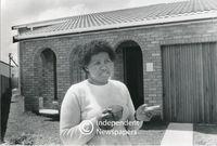 Apartheid-era housing at Khayelethu Park in Guguletu, Cape Town