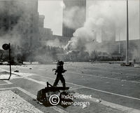 Aftermath of a protest, Cape Town