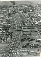 Aerial view of Settlers Way, Cape Town