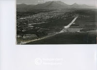 Aerial view of roads being constructed in Cape Town, Cape Town