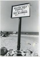 Apartheid beach signage, Cape Town
