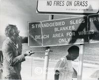 Apartheid signage at the beach,Cape Town