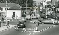 1950s traffic in Voortrekker Road, Bellville, Cape Town